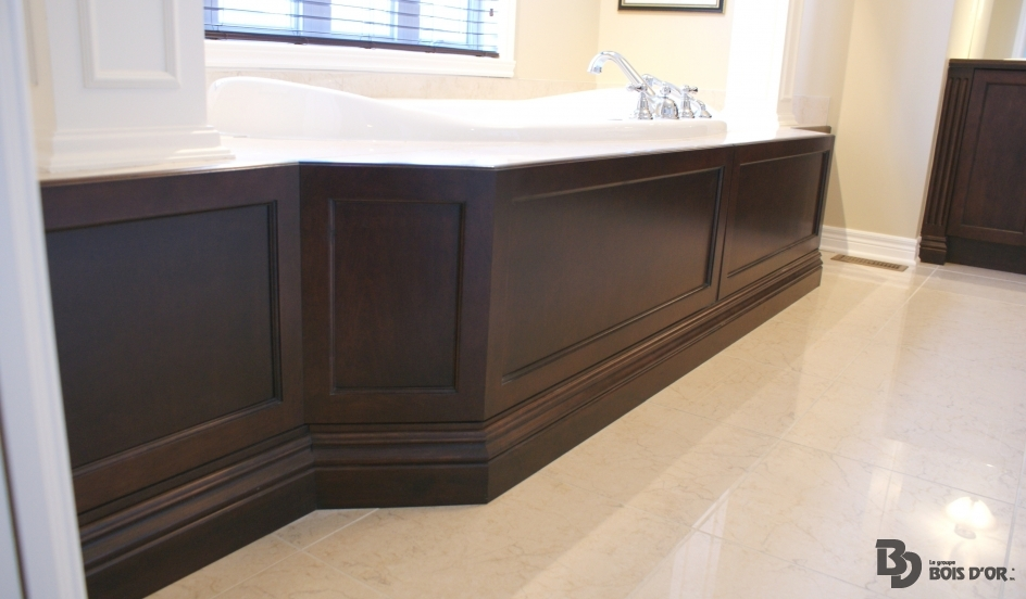 Contour de bain salles de bains classique le groupe bois d 39 or - Contour de bain acrylique ...